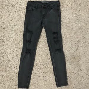 AE Black Distressed Jeans